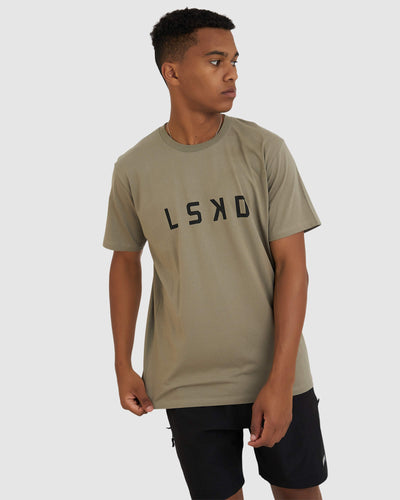 Structure Tee - Dusty Olive