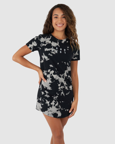 Flyp Tee Dress - Black Ink