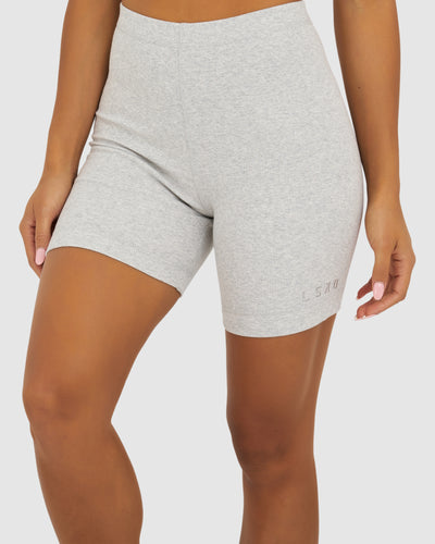 Dymo Ribbed Short Tight - Lt Grey Marle