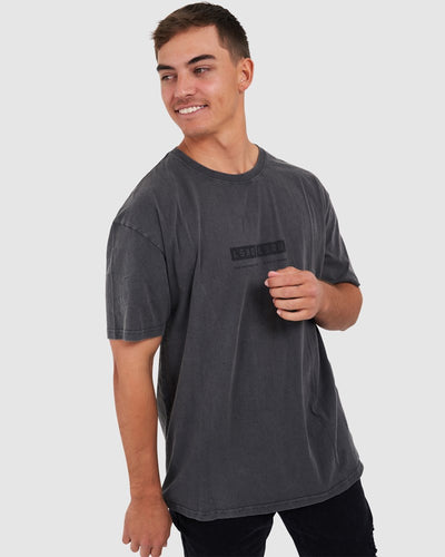 Alt Tee Oversize - Pilled Pigment Charcoal
