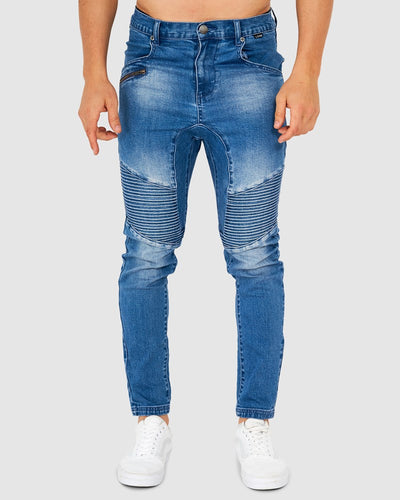 Distort Denim Pant - Old Blue