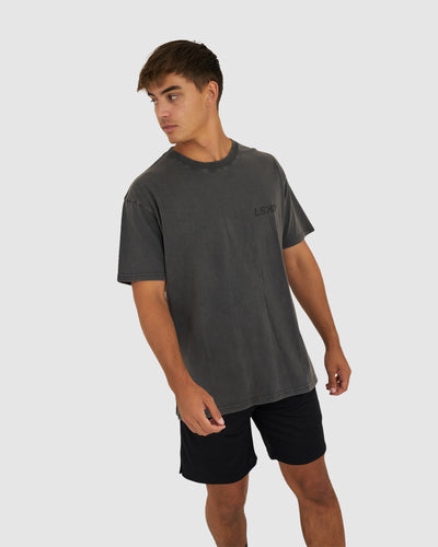 Bank Tee Oversize - Pilled Pigment Charcoal