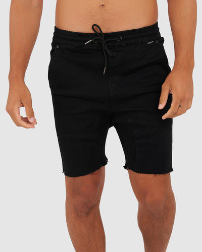 Clip Denim Short - Black