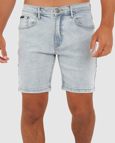 Solid Denim Short - South Beach Blue