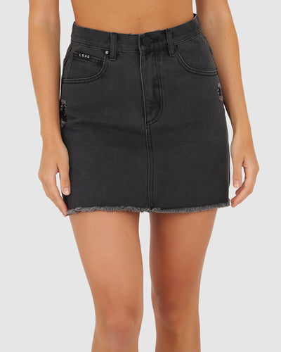 Madison Denim Skirt - Vintage Black