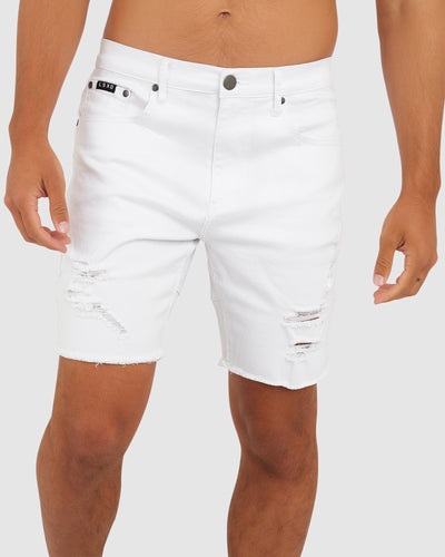 Heath Denim Short - White