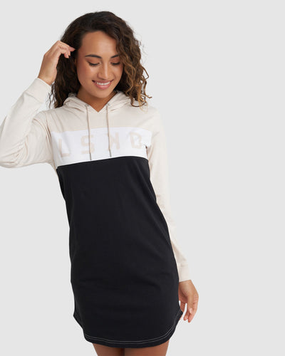 Dough Hooded LS Dress - Pearl