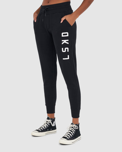 Unisex Structure Trackpant - Black-White