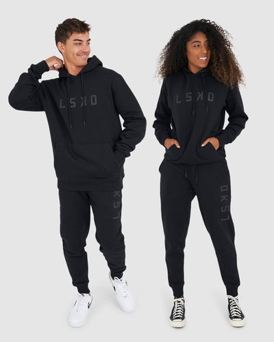 Unisex Structure Trackpant - Black-Black
