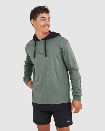 Vanquish Hooded LS Tee Regular - Graphite