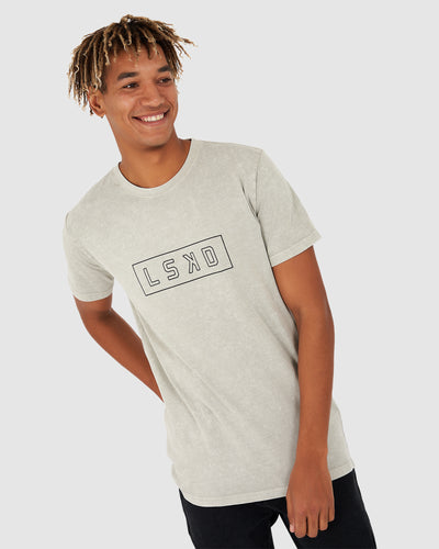 Outline Tee - Taupe Pigment