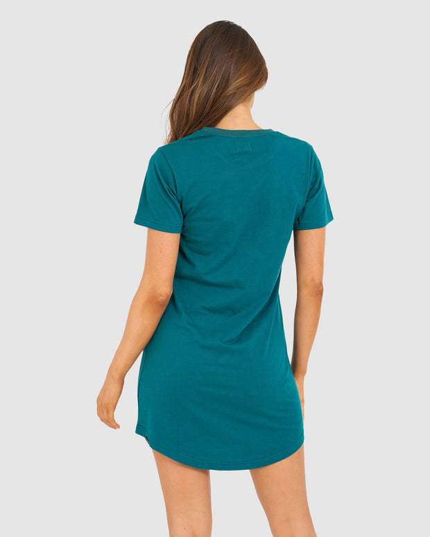 Mood Tee Dress - Deep Teal