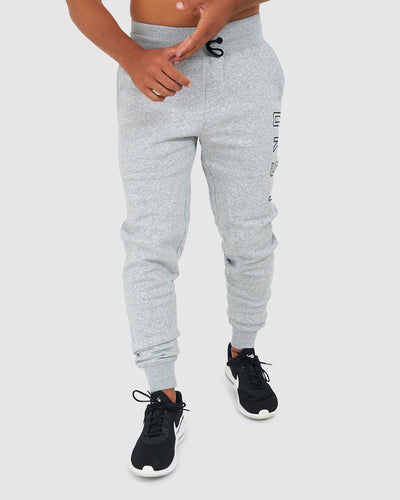 Tidy Trackpant - Lt Grey Marl