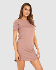 Mood Tee Dress - Dusty Rose