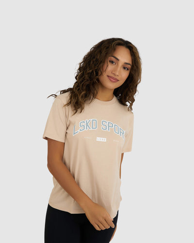 College Tee - Nude-Quarry