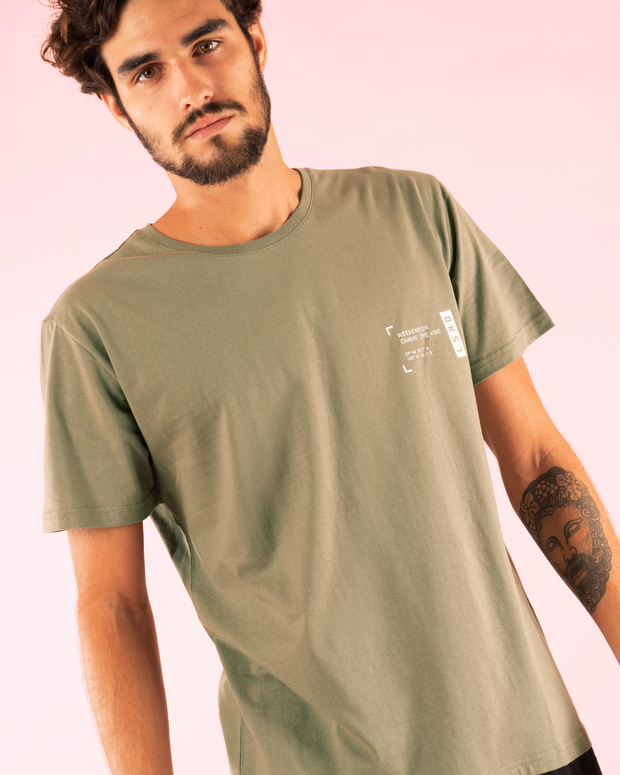 Markings Tee - Dusty Olive