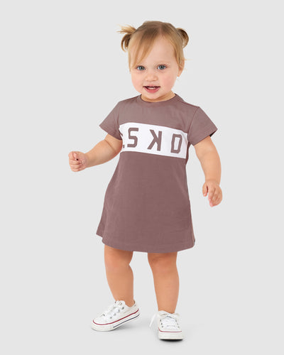 Dough Tee Dress - Mauve