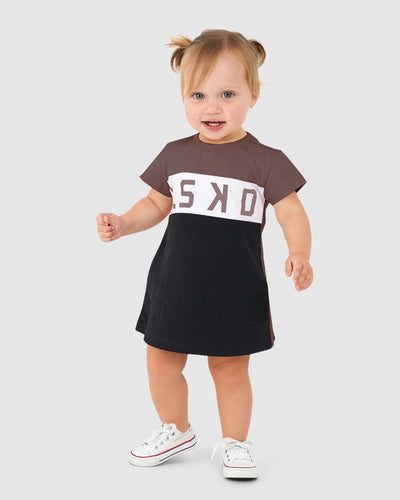 Dough Tee Dress - Peppercorn