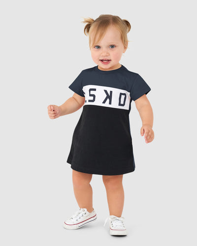 Dough Tee Dress (00-6) - Black-Anchor