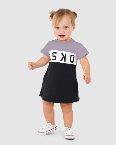 Dough Tee Dress (00-6) - Grey Grape