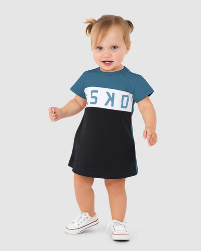 Dough Tee Dress (00-6) - Ocean Green