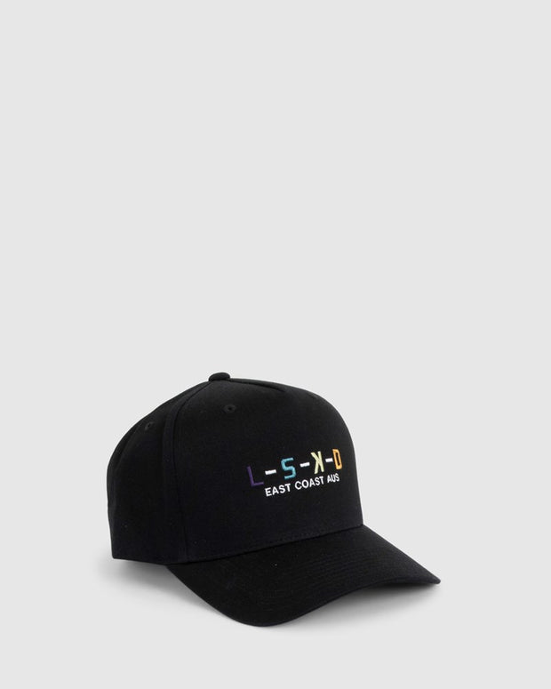 Label Cap (3-8) - Black-Multi