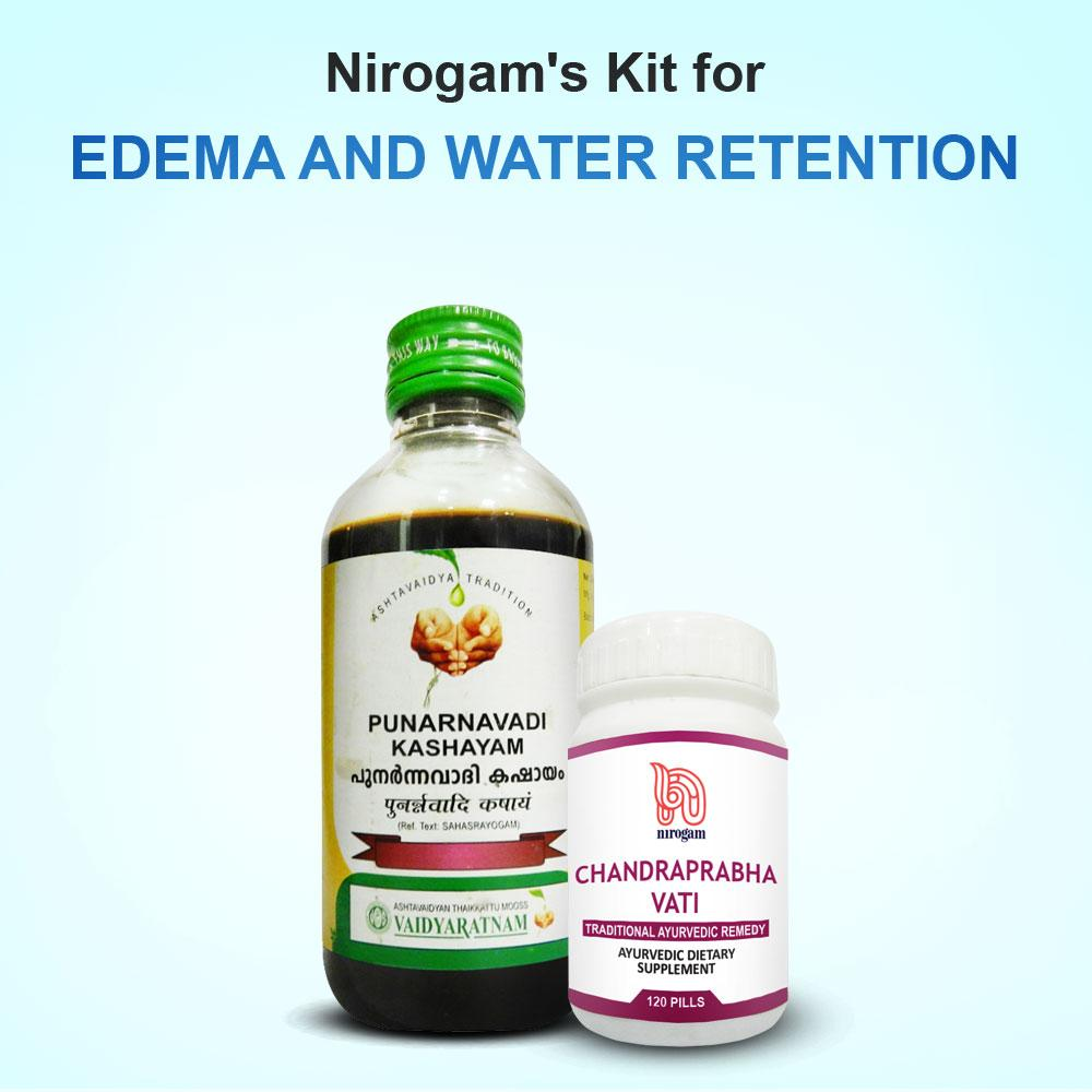 Nirogam's Ayurvedic Kit for Edema and Water Retention - Nirogam