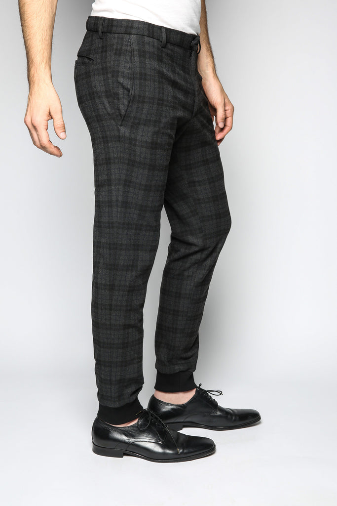 Gable Jogger - Multi Plaid
