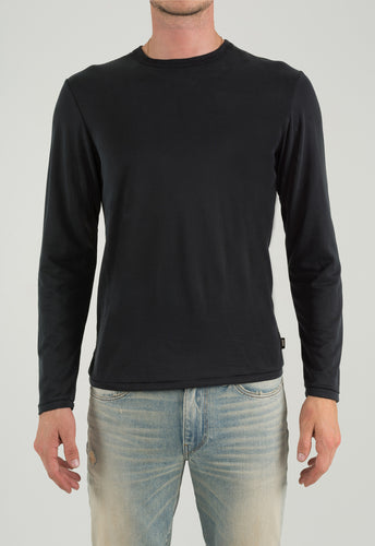 Crew Neck Long Sleeve - Black