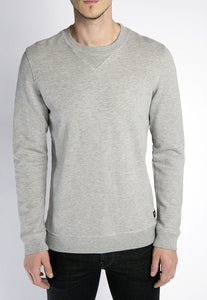 Crew Neck Sweatshirt - Heather Grey
