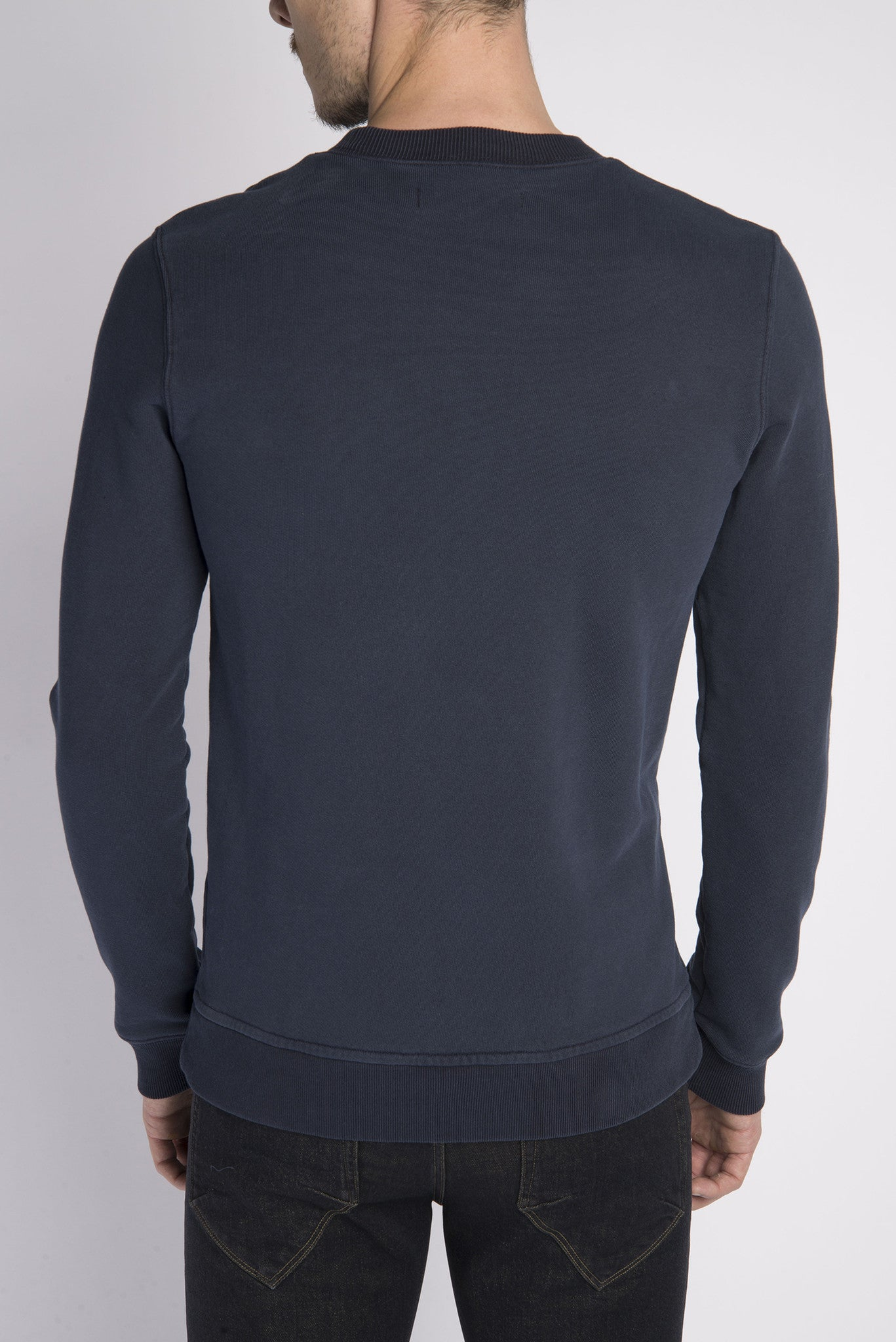 Crew Neck Sweatshirt - Navy