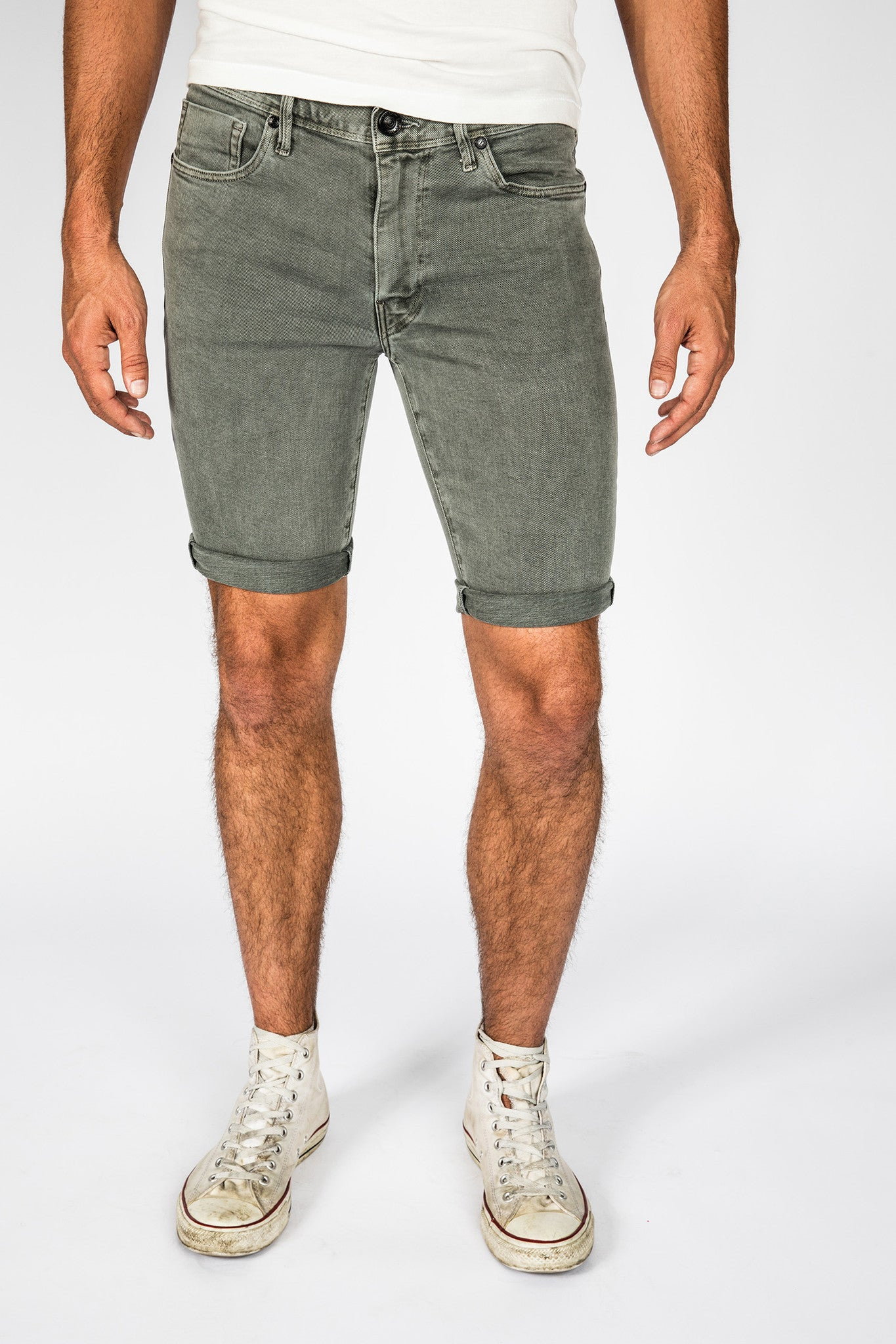 James Roll-Up Shorts - Gunmetal