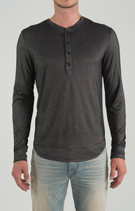 Henley Long Sleeve - Dark Grey