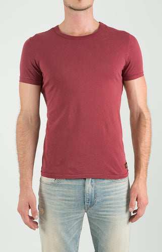 Crew Neck Short Sleeve - Berry