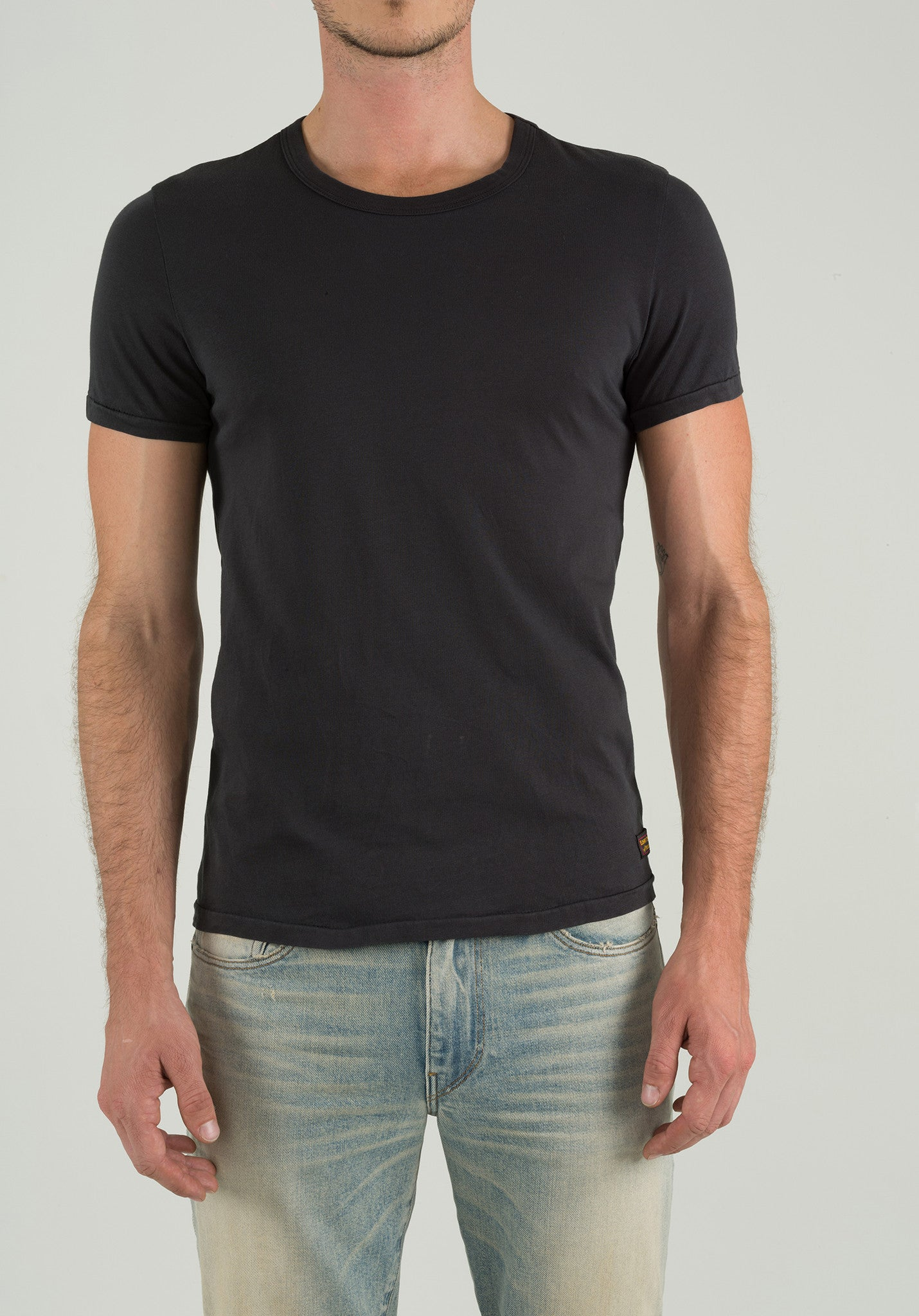Crew Neck Short Sleeve - Black
