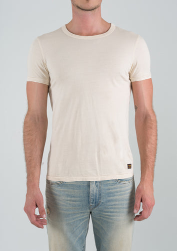 Crew Neck Short Sleeve - Cream