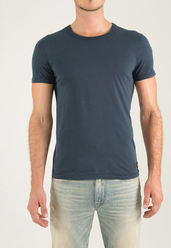 Crew Neck Short Sleeve - Navy