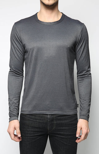 Crew Neck Long Sleeve - Dark Grey