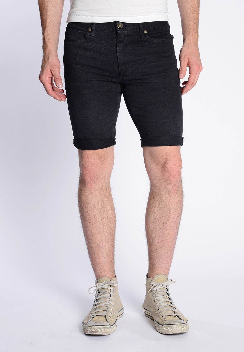James Roll-Up Shorts - Black