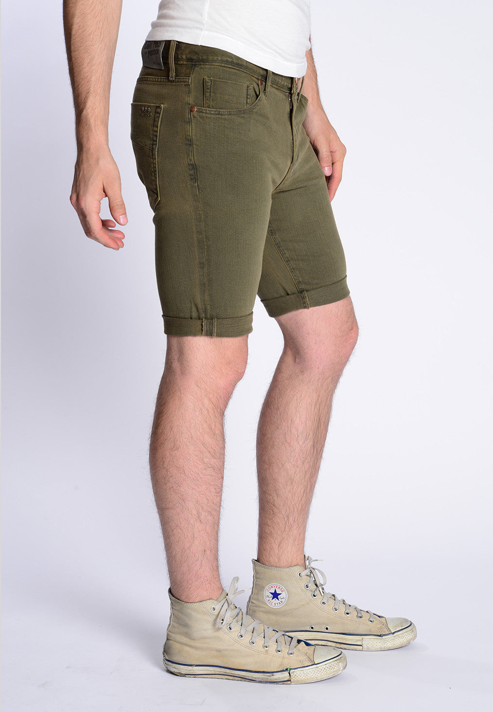James Roll-Up Shorts - Olive