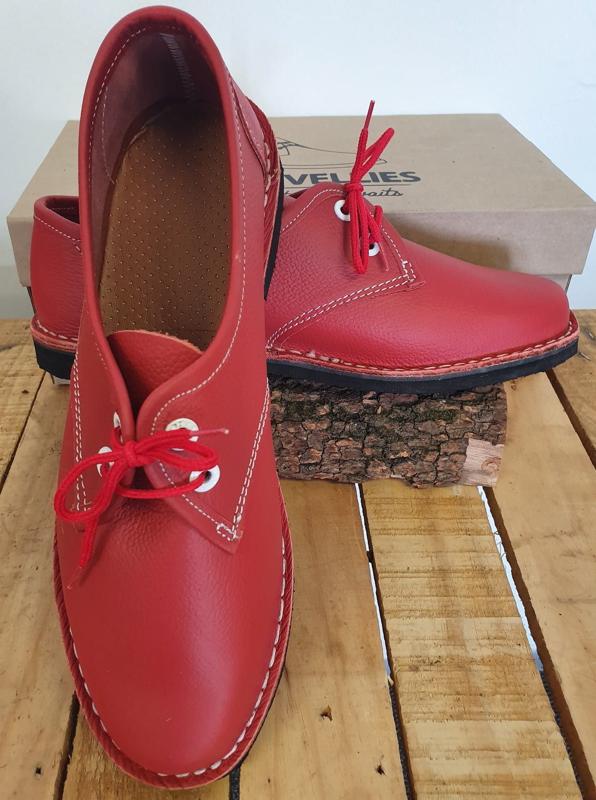 Ladies Red Vellies