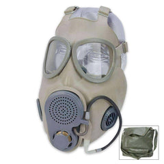 Czech Military M10M NBC Gas Mask With Filter, Drinking Tube & Bag - Never Worn!