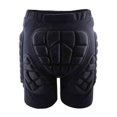 Snowboarding/Skiing Protective Hip And Butt Padded Black Shorts