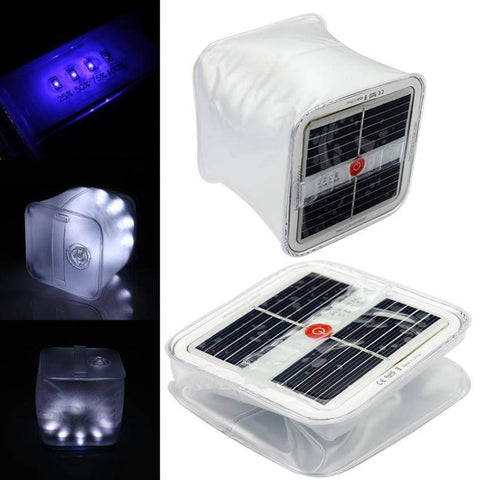 Image of 10 LED Solar Waterproof Inflatable Cube Outdoor Light