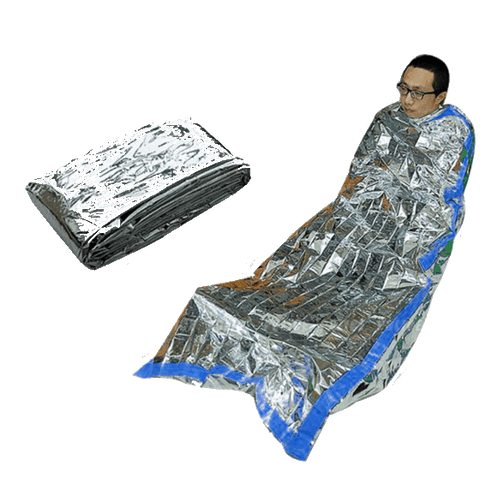 Image of Portable Emergency Foil Waterproof Thermal Sleeping Bag - OutdoorsAdventurer