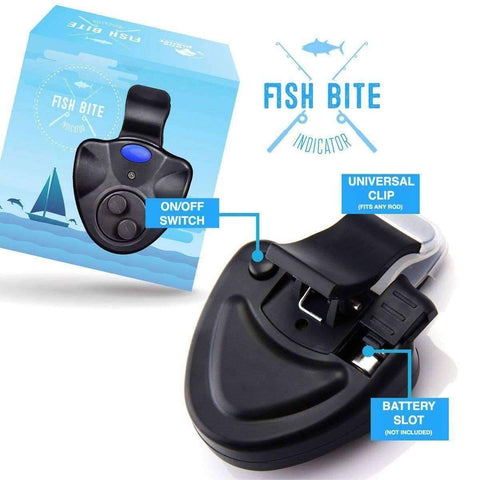 Image of Clip-On Electronic Fish Bite Alarm with LED Light