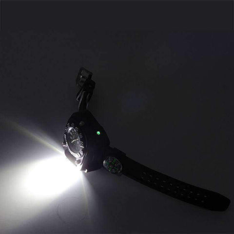 Image of 3 in1 Tactical LED Watch Flashlight - OutdoorsAdventurer