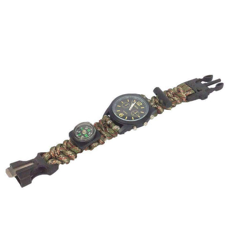 Paracord Survival Bracelet Watch - OutdoorsAdventurer