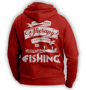 """I Don't Need Therapy, I Just Need To Go Fishing"" Hoodie - OutdoorsAdventurer"
