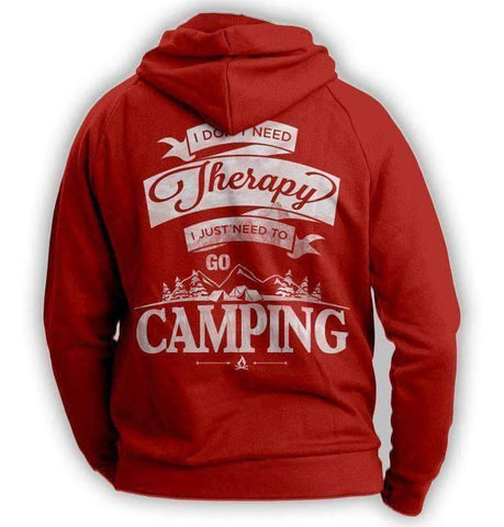 "Image of ""I Don't Need Therapy, I Just Need To Go Camping"" Hoodie - OutdoorsAdventurer"